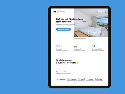 booking landing blue atipo futura concept houses apartments desktop booking