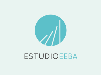 Logo EEBA Final proposal quicksand font circle interiorism building construction lines architecture blue water
