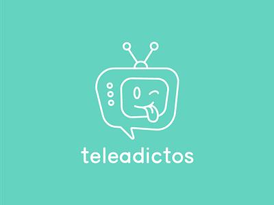 Teleadictos Podcast rebranding tongue turquoise blue green adictos tv