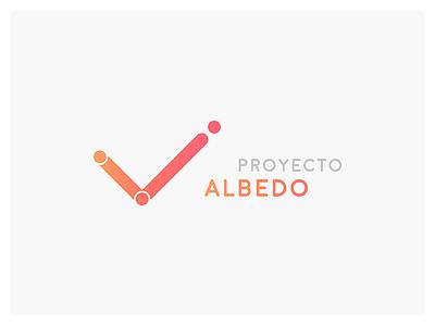 Logotype Albedo Project  victory v effect albedo tick security
