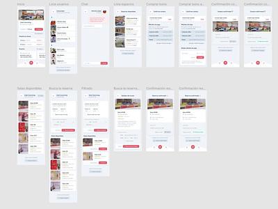 Uspace, booking coworking space app app ui app concept coworking application apple app mobile