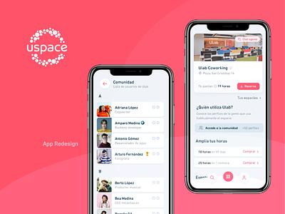 Uspace App Redesign android ui design design app ui app mobile application apple