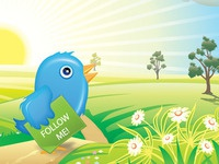 Banner promote Twitter account