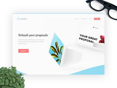 Webdeck - Unleash your proposals [Design Concept #1] design concept minimal colourful website