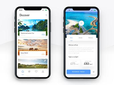 iPhone X - Exotic Travels [Design Concept #2] design concept app travel iphone iphone x