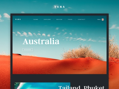 Vana - Travel Blog [Design Concept #3] concept ui website dark blog travel