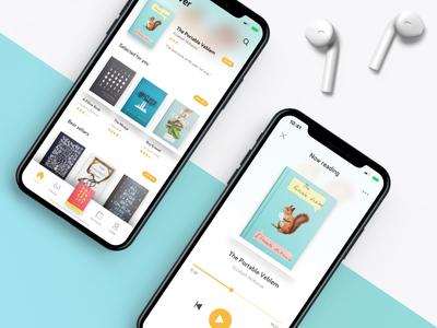 Audiobook App - [Design Concept #4] design concept app library player book audiobook iphone iphone x