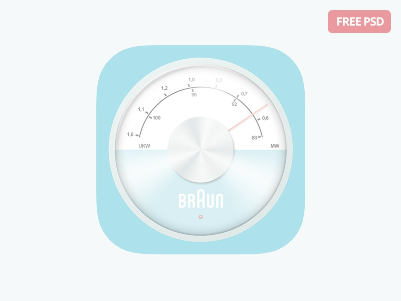 Free iOS Radio Icon pastel dieter rams download freebie free ios8 ios icon radio braun