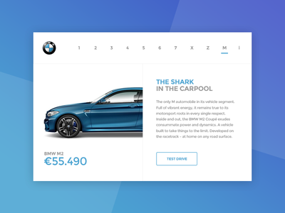 BMW Car Showcase