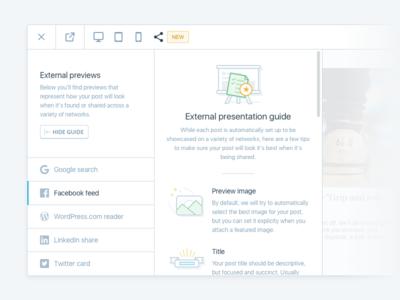 External Presentation Guide guide figures modal social ui
