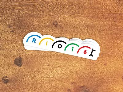 Rio 2016 Gymnastics sticker mule playoff gymnastics olympics sticker