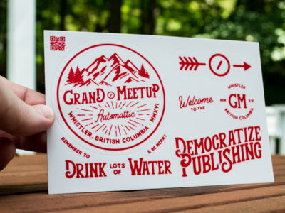 GM2016 - sticker pack swag grand meetup automattic a8c meetup stickers