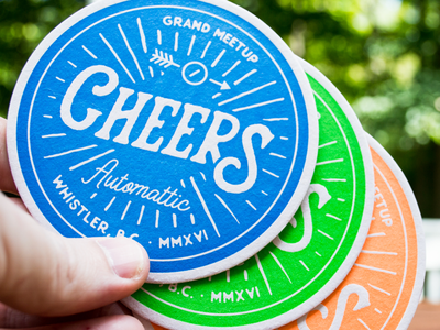 GM2016 - Coasters grand meetup letterpress automattic a8c meetup coaster