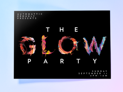 GM2016 - Party Flyer party grand meetup automattic a8c rave glow meetup flyer