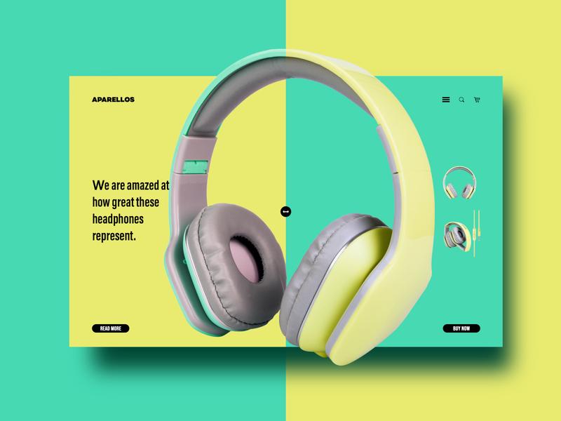 Headphone online store. Web design