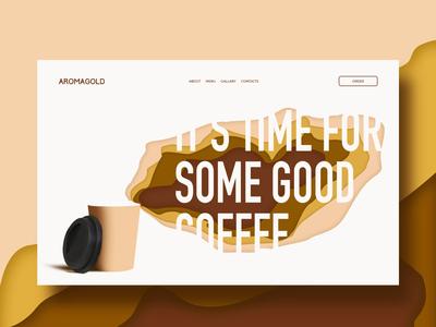Coffee shop online. Web design