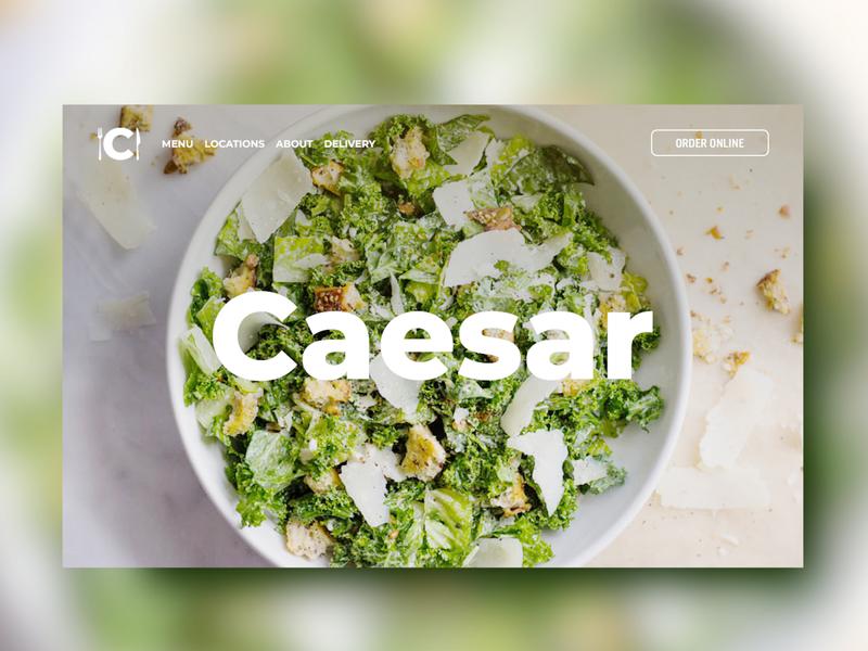 """Restaurant """"Caesar"""". Web design"""