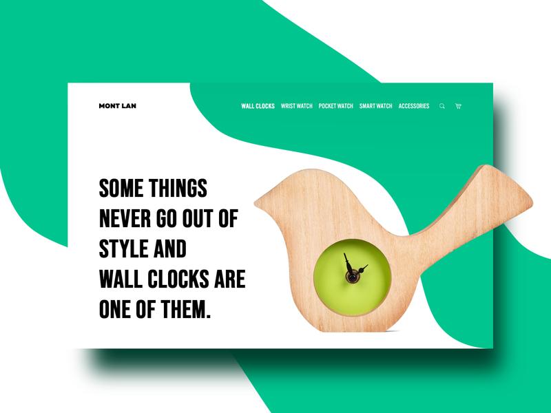 Clock online store. Web design