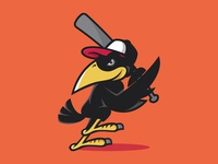 Bird Playing Baseball