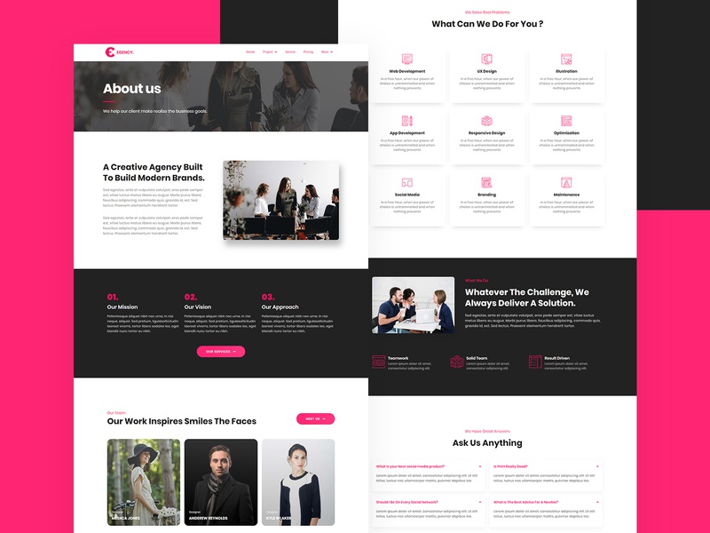 Agency Elementor Template Kit business wordpress design wordpress theme wordpress elementor templates elementor website builder website concept websites website design web design webdesign website web agency landing page agency website agency