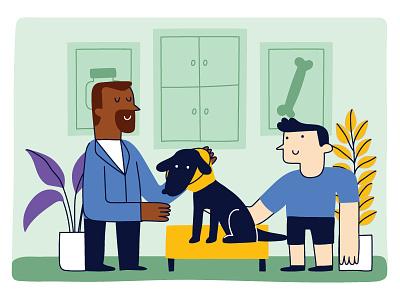 VETERINARY dog illustration doggy dog logo dogs dog pet care petshop pets pet veterinarian veterinary
