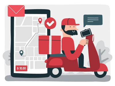 COURIER package delivery service delivery app deliver delivery online store online shopping online shop courier service courier app courier