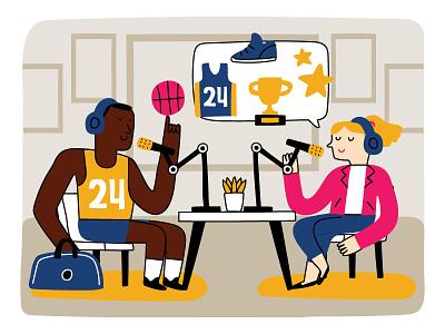 BASKETBALL PLAYYER PODCAST streaming talking talks podcast logo podcast art podcasting podcasts podcast basketball player basket ball basketball basket