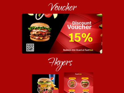 Voucher for a food outlet. illustration figmadesign graphic design graphics graphic