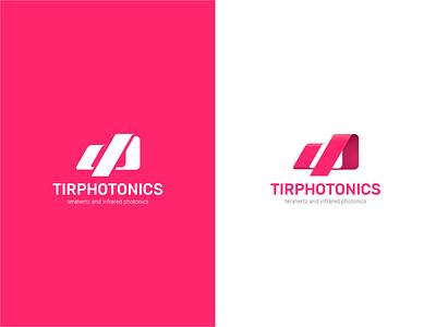 TIRphotonics logo logotype vector reflection ray brand identity logo design product science logo branding