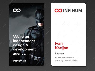 Batman business card special edition business card infinum batman