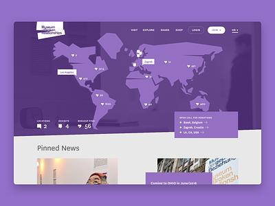 Museum of Broken Relationships - Story map website heart broken relationship interface ui ux infinum brokenships animation web