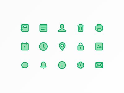 MemoryWeb icons animation interface icon set memoryweb ux ui infinum app ios icons
