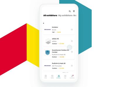 Messe Connect –trade fair app app favorite animation trade fair ios ux ui