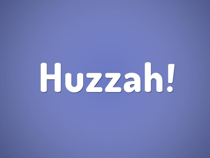 Huzzah! logo branding app iphone dating huzzah