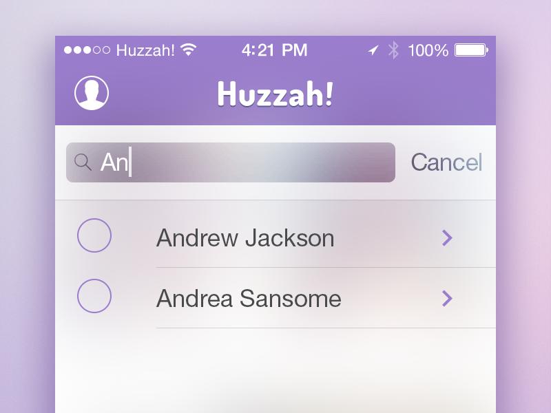 Huzzah search