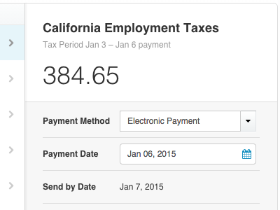 USA Payroll: CA, FL, TX payroll taxes and filings taxes payments electronic
