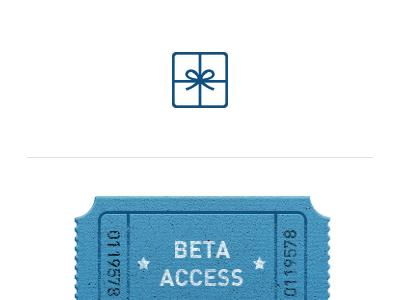 Beta Invite beta invite access ticket simple wine gift chocolate occasions wip emails