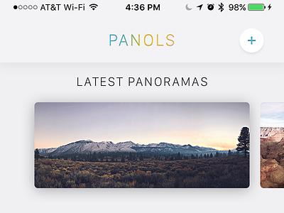 Panols Interface triptych dashboard san francisco split outdoors explore adventure panol panoramas ui