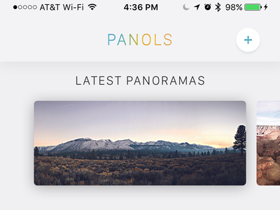 Panols Interface triptych dashboard san francisco split outdoors explore adventure panol panoramas ui