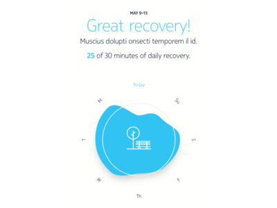Workout & Recovery fitness sleep exercise movement health diagram graph recovery workout stats ios