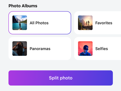 Panols II panoramas gallery photos app store app iphone gradients redesign panols ui light