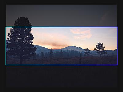 Gradient + Crop UI redesign ui dark dark ui panols panorama split photo crop gradient