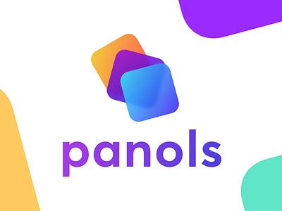 WIP: Panols II redesign branding logo vibrant gradient ios panoramas splits panols panels
