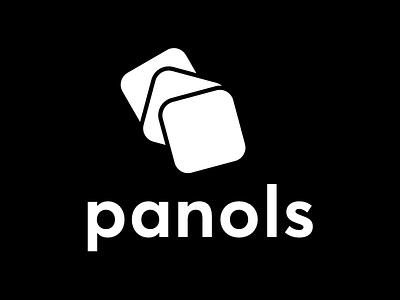 WIP: Panols II Monochrome monochrome panels panols splits panoramas ios gradient vibrant logo branding redesign