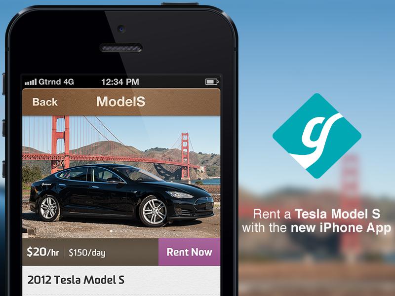Getaround for iPhone car sharing iphone getaround tesla models rent app car sharing