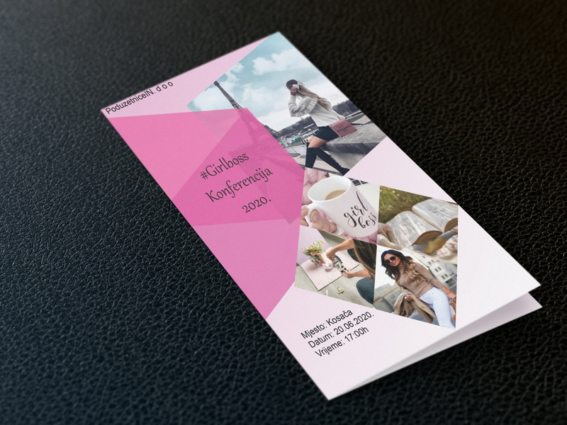 Flyer branding illustration vector typography design
