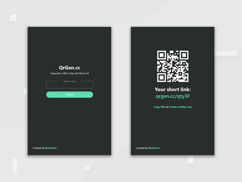 Simple QR-Code Generator ui web qrcode design webdesign