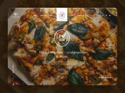 12 Pieces Pizzeria food fast food fastfood pizzeria pizza sketch minimal website clean web ux ui
