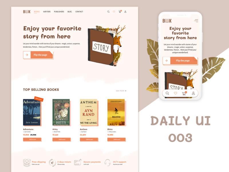daily UI - 003 - LandingPage