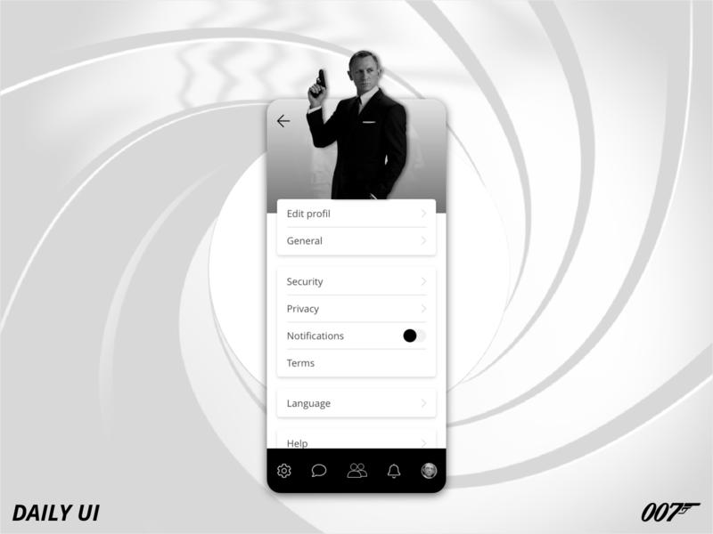 Daily UI - 007 - Settings
